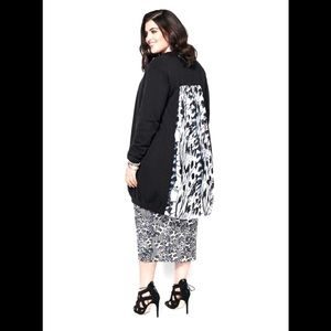 Melissa McCarthy Seven7 Cardigan with Pleated Back